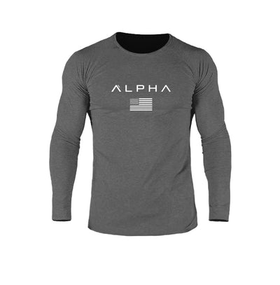 Alpha Flag Athleti-Fit™ LS v.2 - Obsidian