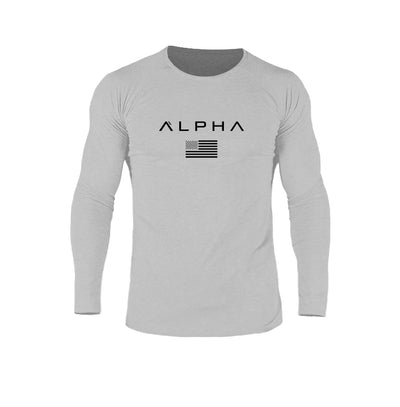 Alpha Flag Athleti-Fit™ LS - Stone