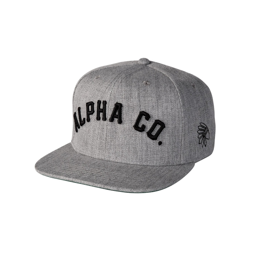 The Alpha Co. Tribe Snapback - Heather/Black