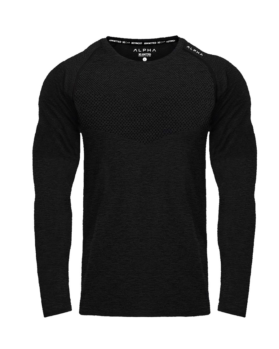 3D KNITTED™ Performance Shirt - Long Sleeve - Stealth
