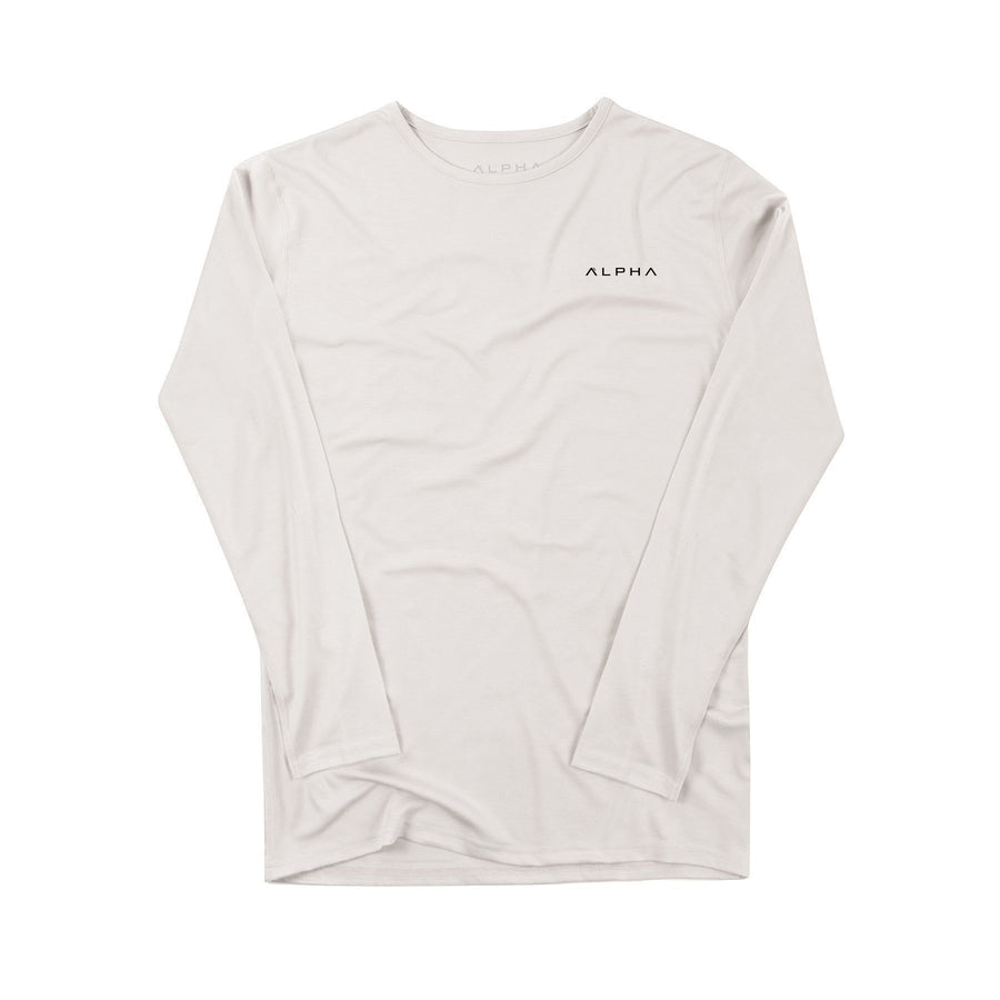 T-Shirt - Bamboo LS - Off-White