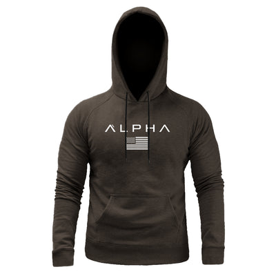 Alpha Flag Hoodie - Faded Brown