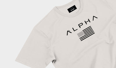 Alpha Flag Athleti-Fit™ Tee - Bone / Black
