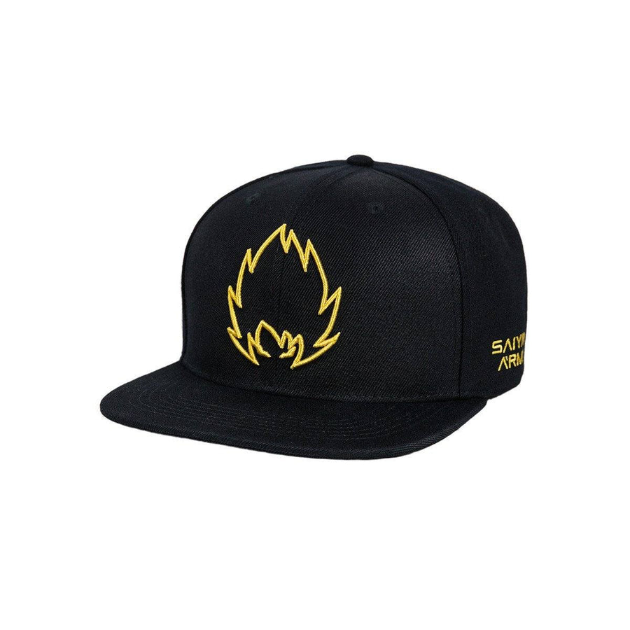 Black/Gold Saiyan Army Snapback Hat