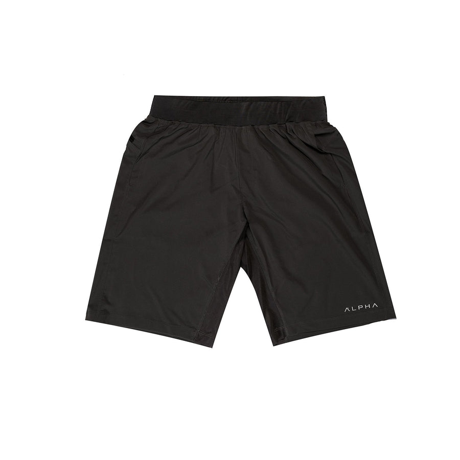 black performance shorts