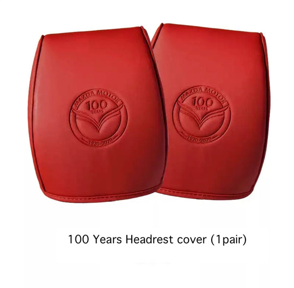 Mazda 3 2020 100 Years Headrest Leather Cover