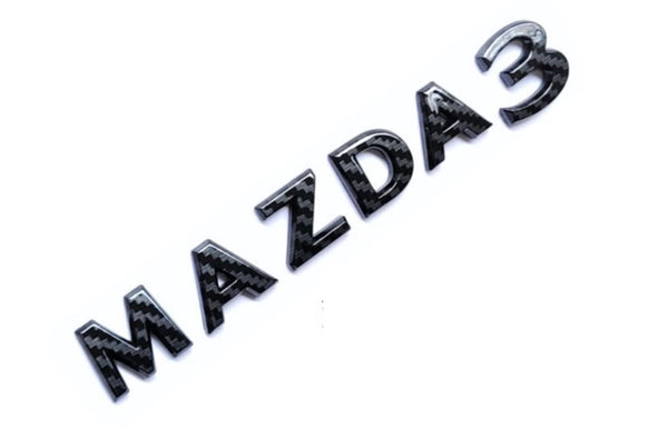 Mazda 3 2020 New Font Design Rear Badge