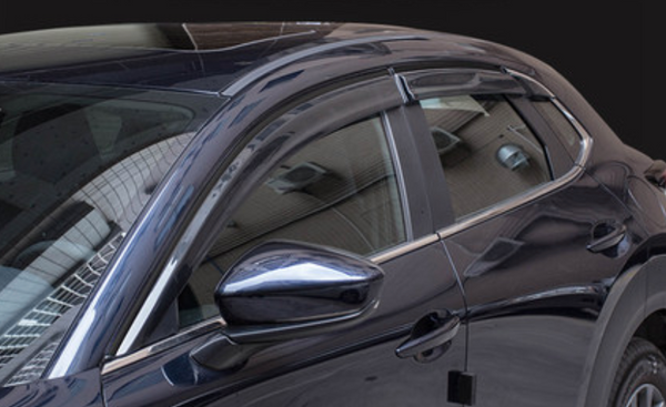 CX30 Door Visor with Chrome Lining 6pcs