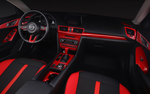Soul red interior trim for Mazda 3