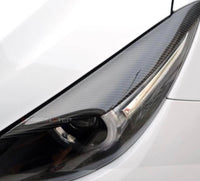 Carbon fiber Headlight Eyelid For Mazda 3 17-19