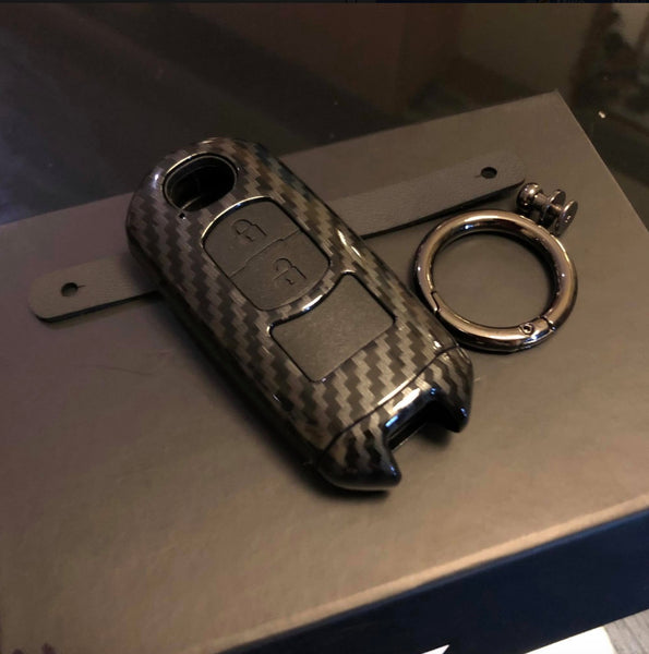 Carbon fiber key shell case for Mazda