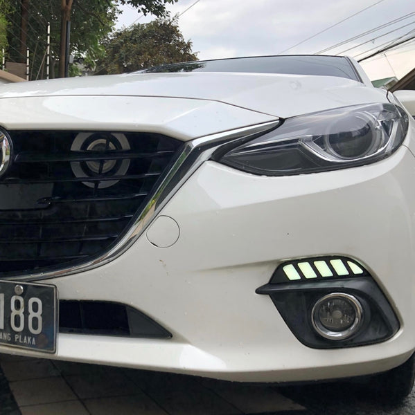 DRL + Streaming Turn signal for Mazda 3 14-16