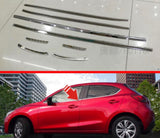 Mazda 2 Hatchback Sedan Lower window stainless silver lining