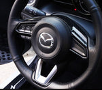 Mazda upper steering carbon fiber trim