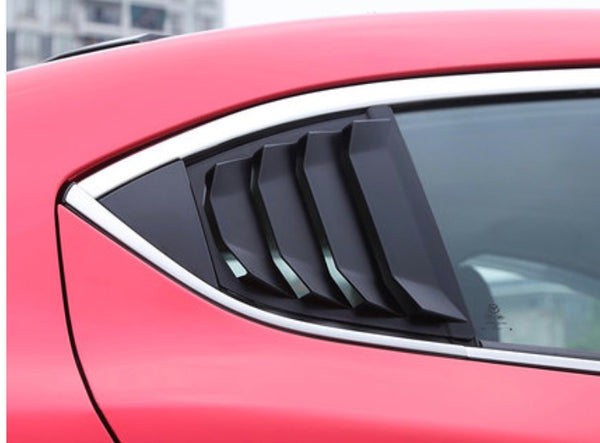 Quarter window louver cover for Mazda 3