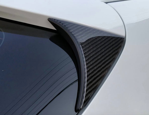 Side wing Carbon Fiber cover for Mazda 3 HatchBack 14-19