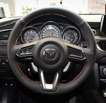 Mazda 2 3 6 CX3 CX5 DIY leather steering wheel wrap