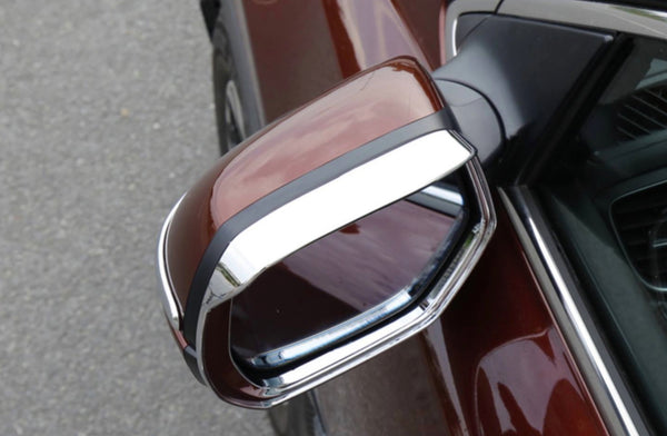 CRV Side mirror visor chrome, carbon fiber, piano black