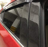 Real carbon fiber laminated Window Pillar for Mazda 3 14-19 HB Sedan