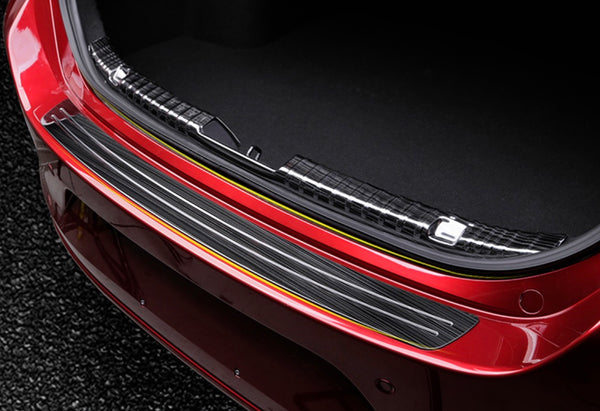 Mazda 3 2020 rear bumper step sill titanium black