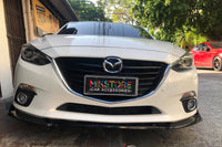 Front lip ABS piano black for Mazda 3