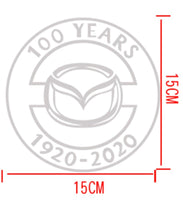 Mazda 100th Anniversary Commemorative Sticker Center Cap and Badge