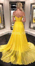 Beading Pleats Off Shoulder Zipper-Up Long Solid Ruched Chiffon Evening Dress