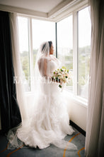 Beading Straps Sleeveless Lace-Up Plus Size Long Solid Ruched Mermaid Wedding Dress