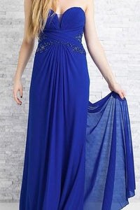 Sheath Sweetheart Sweetheart Empire Waist Long Chiffon Evening Dress With Applique