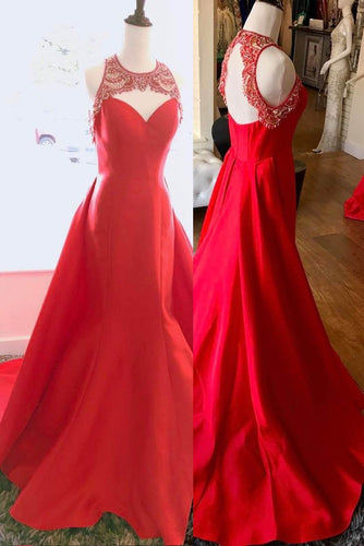 Beading Lace Key-Hole Scoop Neck Sleeveless Open Back Long Solid Evening Dress