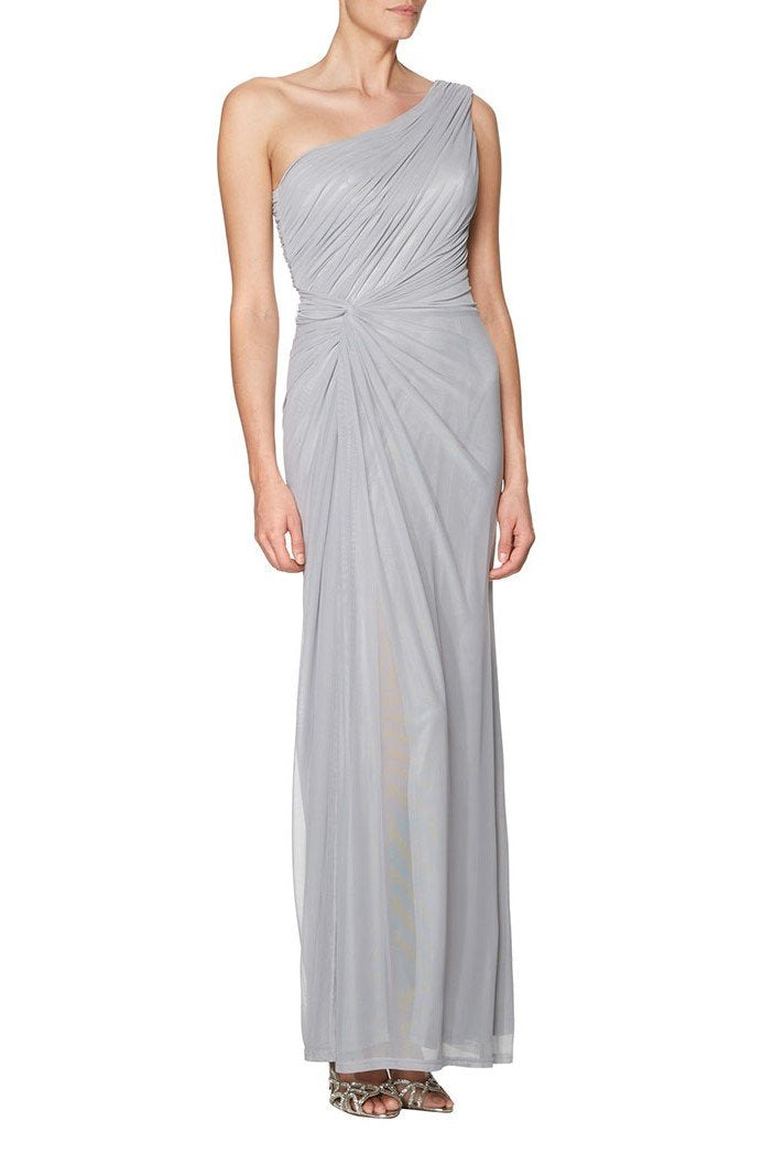 d876a67f5e One-Shoulder Ankle-Length Sheath Chiffon Bridesmaid Dress With Ruching