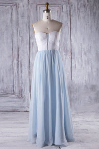 Patchwork Sweetheart Strapless Floor-Length Ruched Chiffon Bridesmaid Dress