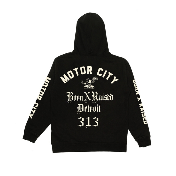 MOTOR CITY HOODY: BLACK