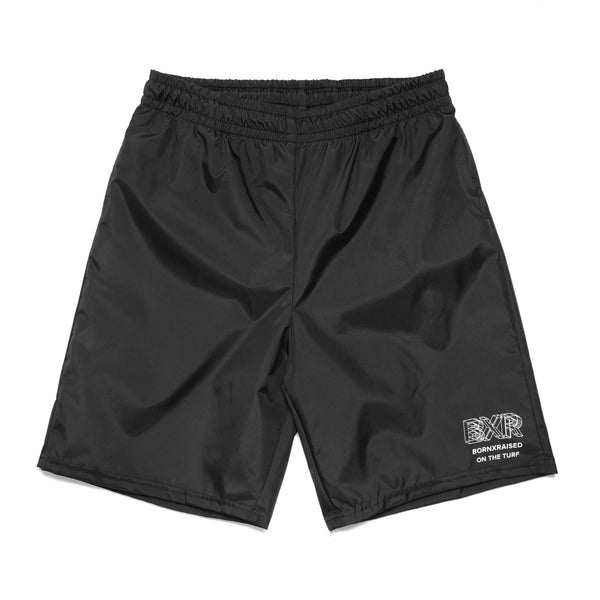 WIREFRAME NYLON SHORTS: BLACK