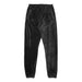 VELOUR PANTS: BLACK
