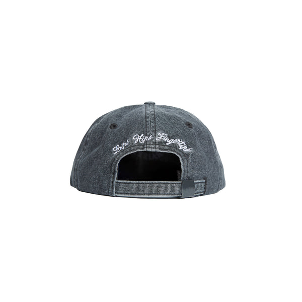 DENIM ROCKER STRAPBACK: VINTAGE BLACK