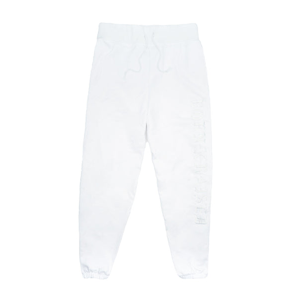 TONAL SWEATPANTS: WHITE