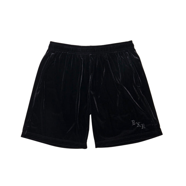 VELOUR SHORTS: BLACK