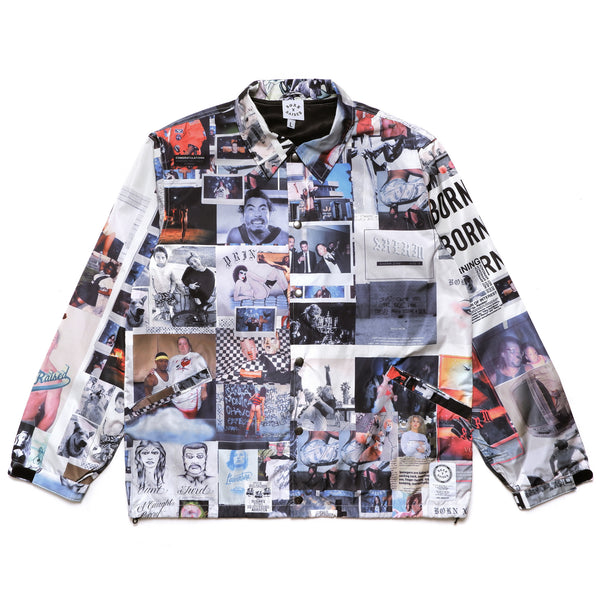 SHERM ALL OVER PRINT COACH JACKET