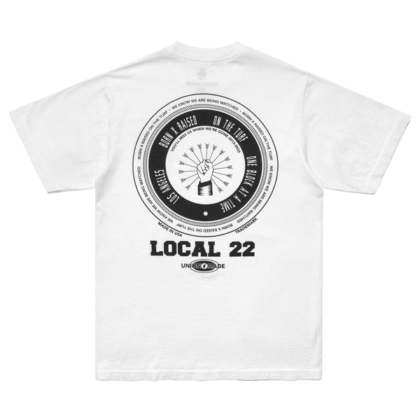 LOCAL 22 T-SHIRT: WHITE