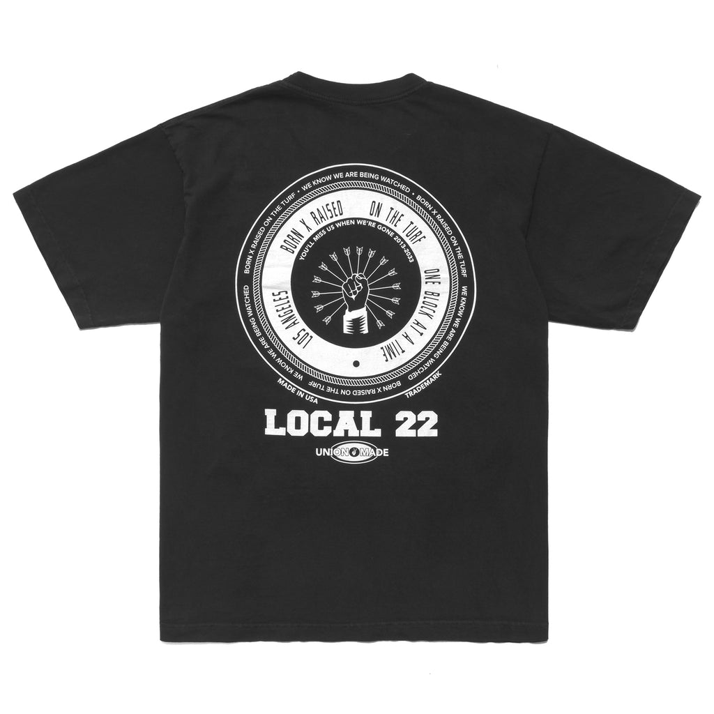 LOCAL 22 T-SHIRT: VINTAGE BLACK
