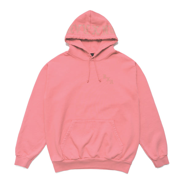 BXR TONAL PRINT HOODY: DUSTY ROSE