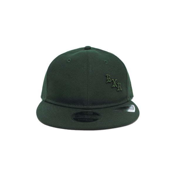 NEW ERA BXR STACK SNAP BACK: DARK GREEN