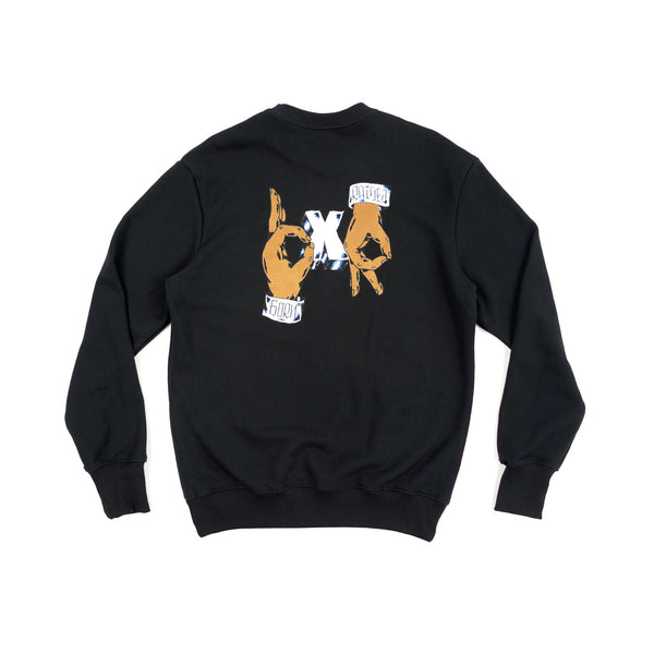 HANDS CREWNECK: BLACK