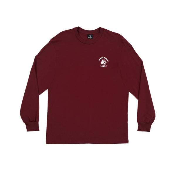 TEAM JESUS LONG SLEEVE: BURGUNDY