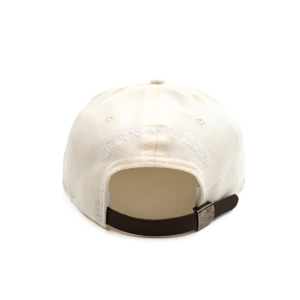 EBBETS GENOCIDE: 6-PANEL HAT: CREAM