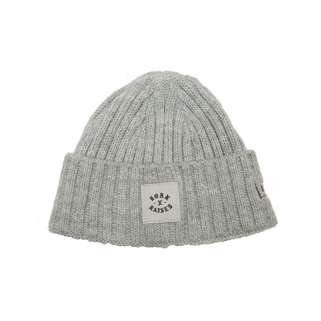 BXR HEAVY KNIT BEANIE: HEATHER GREY