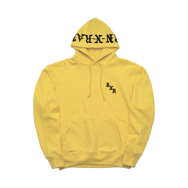BXR EMBROIDERED HOODY: MUSTARD YELLOW