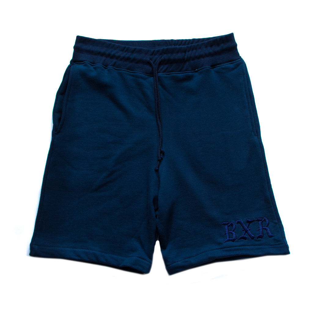 TONAL SWEAT SHORTS: NAVY