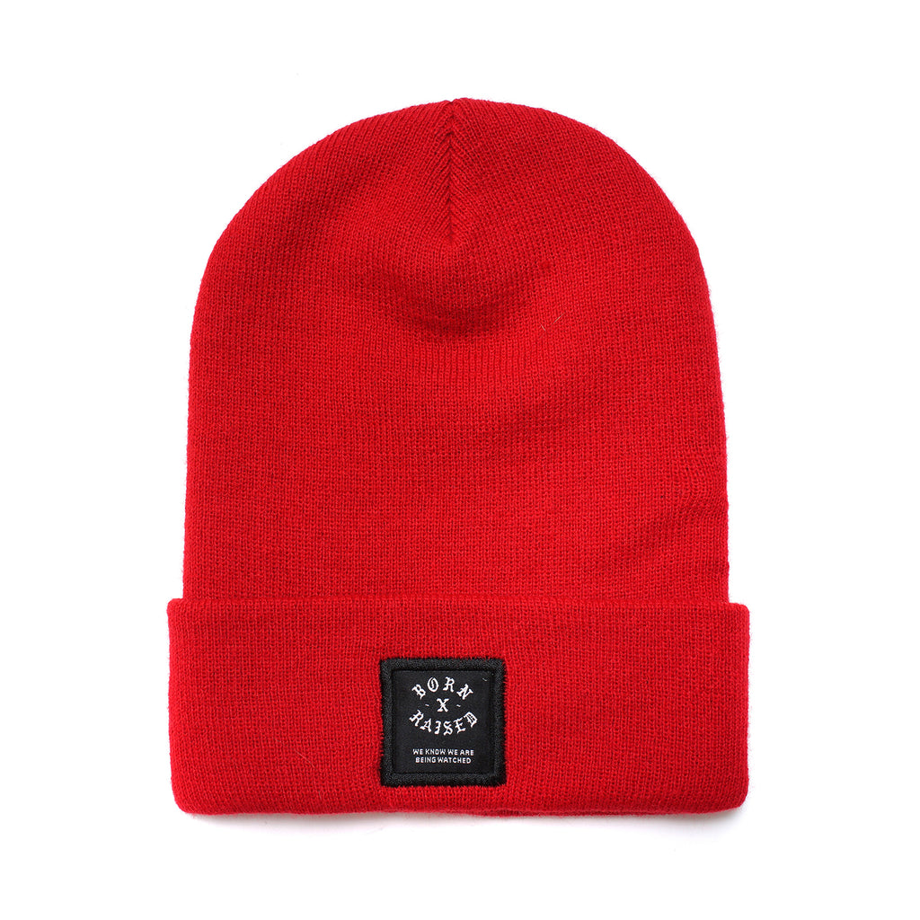 BXR LABEL BEANIE: RED